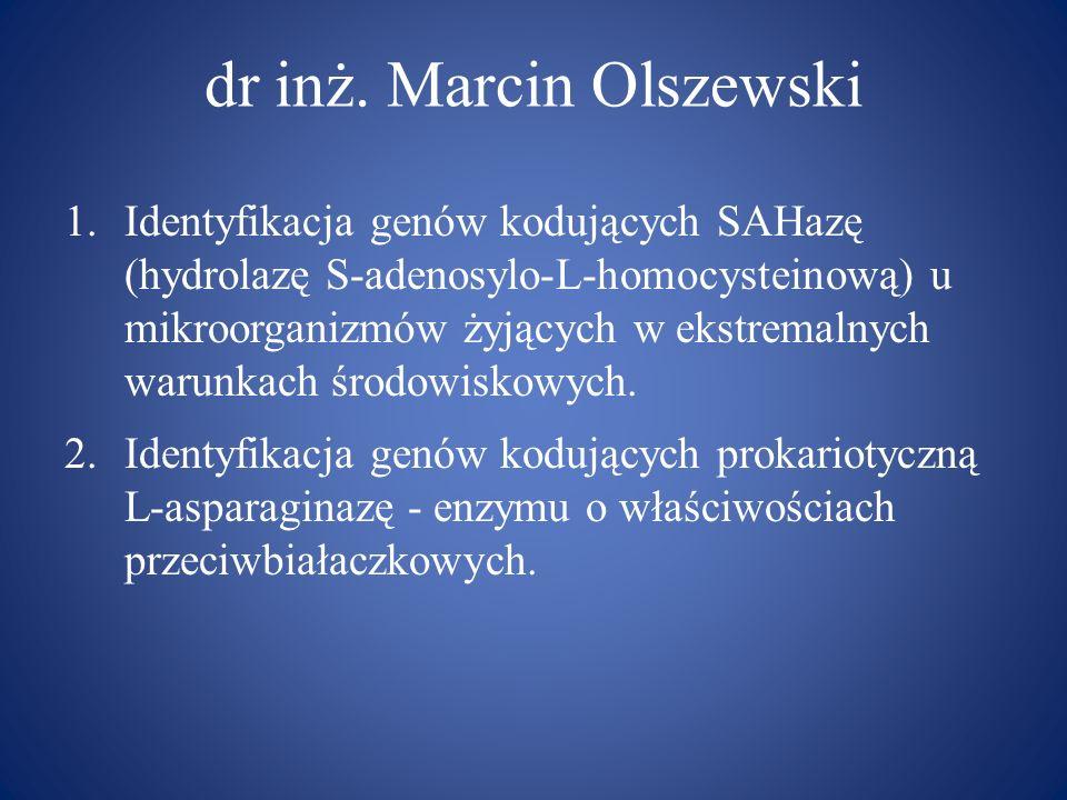 dr inż. Marcin Olszewski