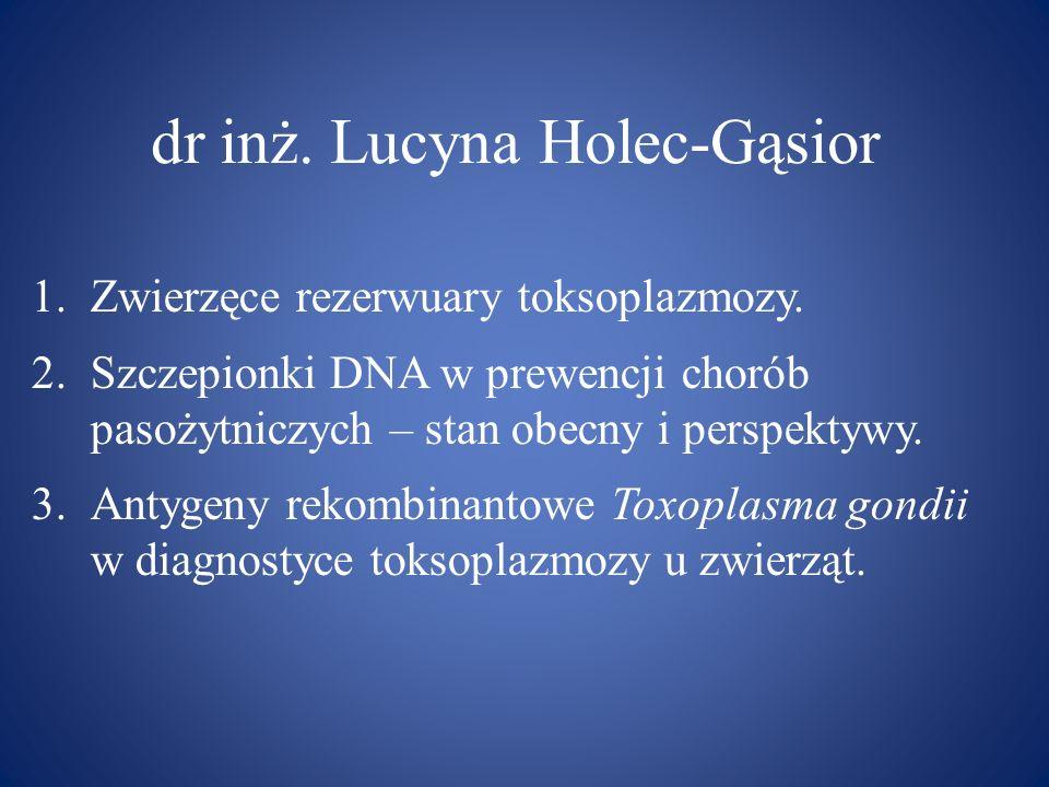 dr inż. Lucyna Holec-Gąsior