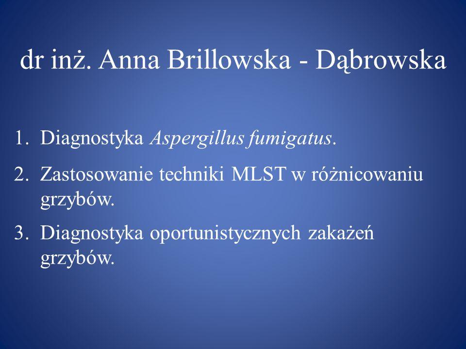 dr inż. Anna Brillowska - Dąbrowska
