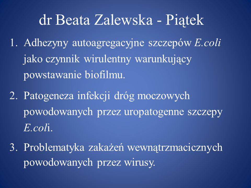 dr Beata Zalewska - Piątek
