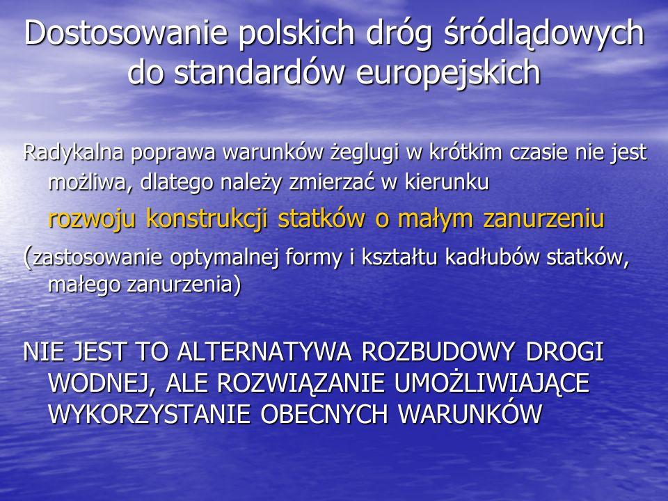 Dostosowanie polskich dróg śródlądowych do standardów europejskich