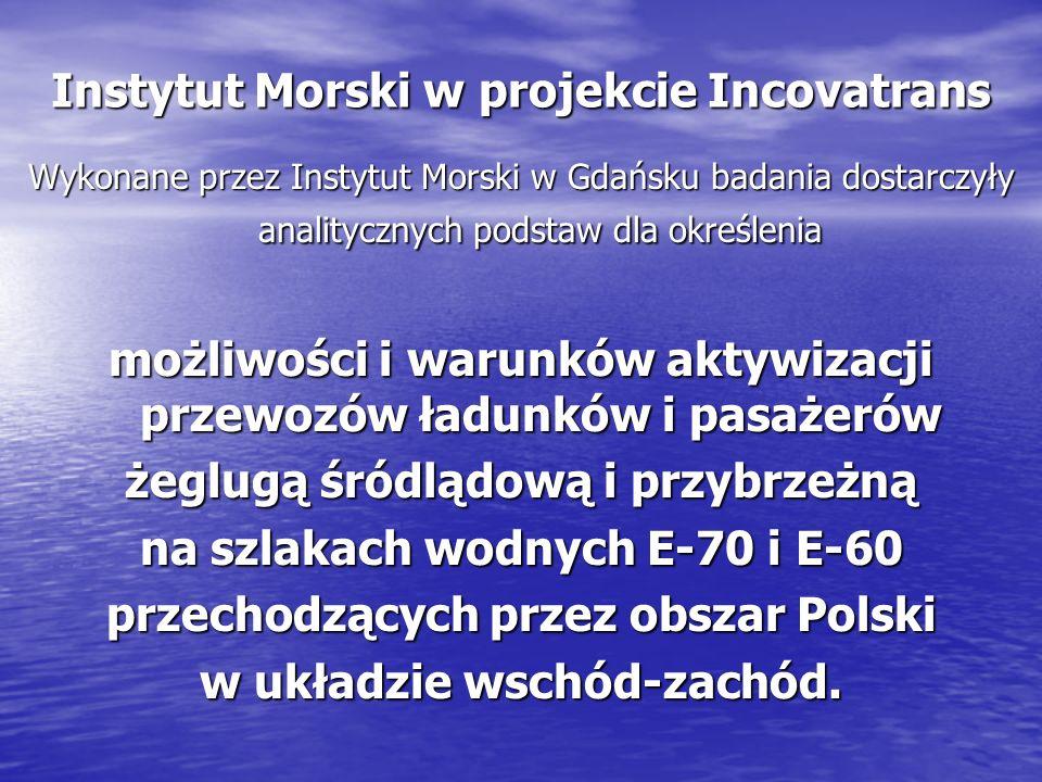 Instytut Morski w projekcie Incovatrans