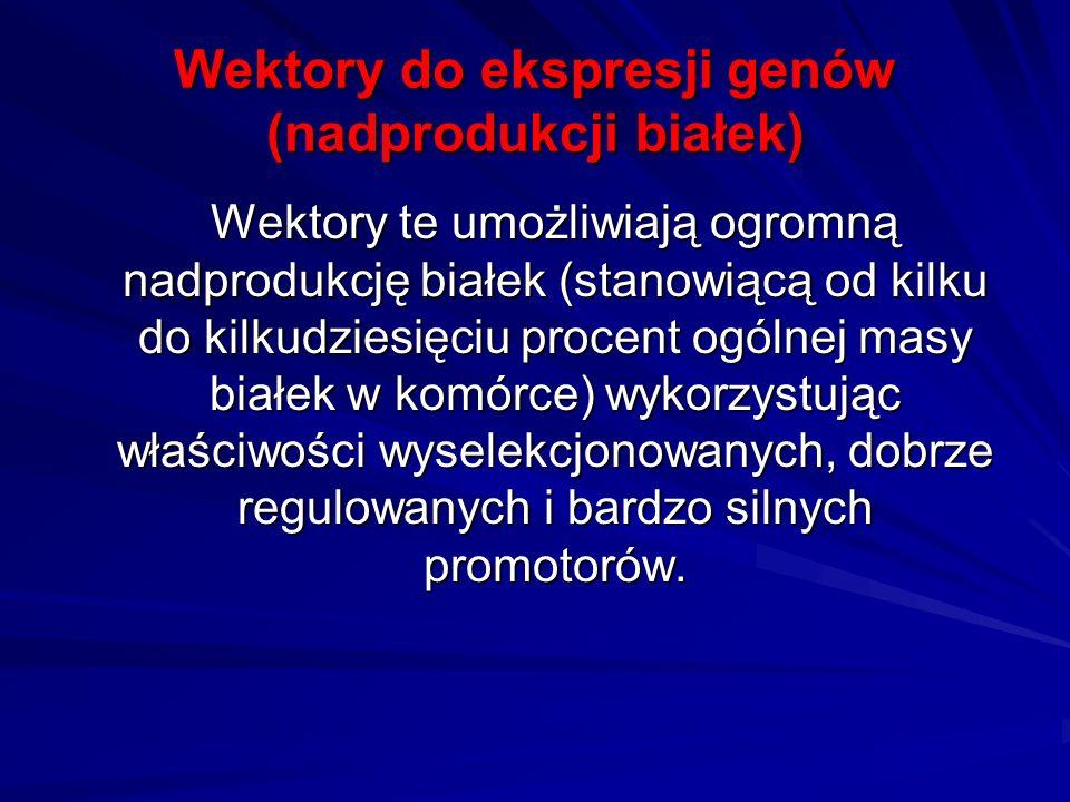 Wektory do ekspresji genów (nadprodukcji białek)
