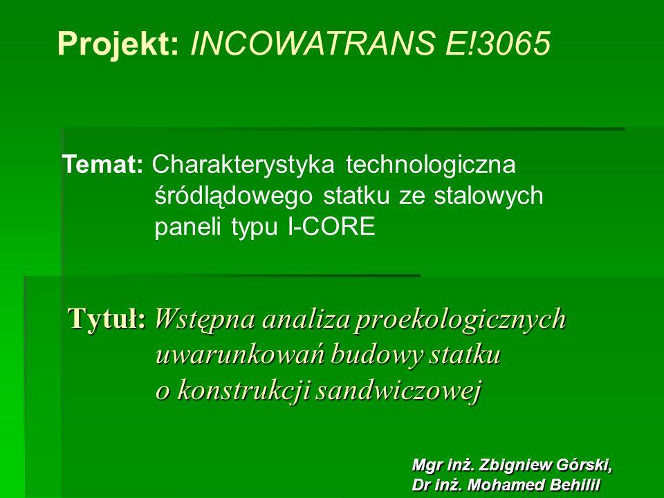 Projekt: INCOWATRANS E!3065