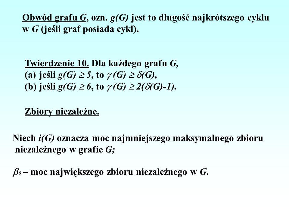 Obwód grafu G, ozn. g(G) jest to długość najkrótszego cyklu