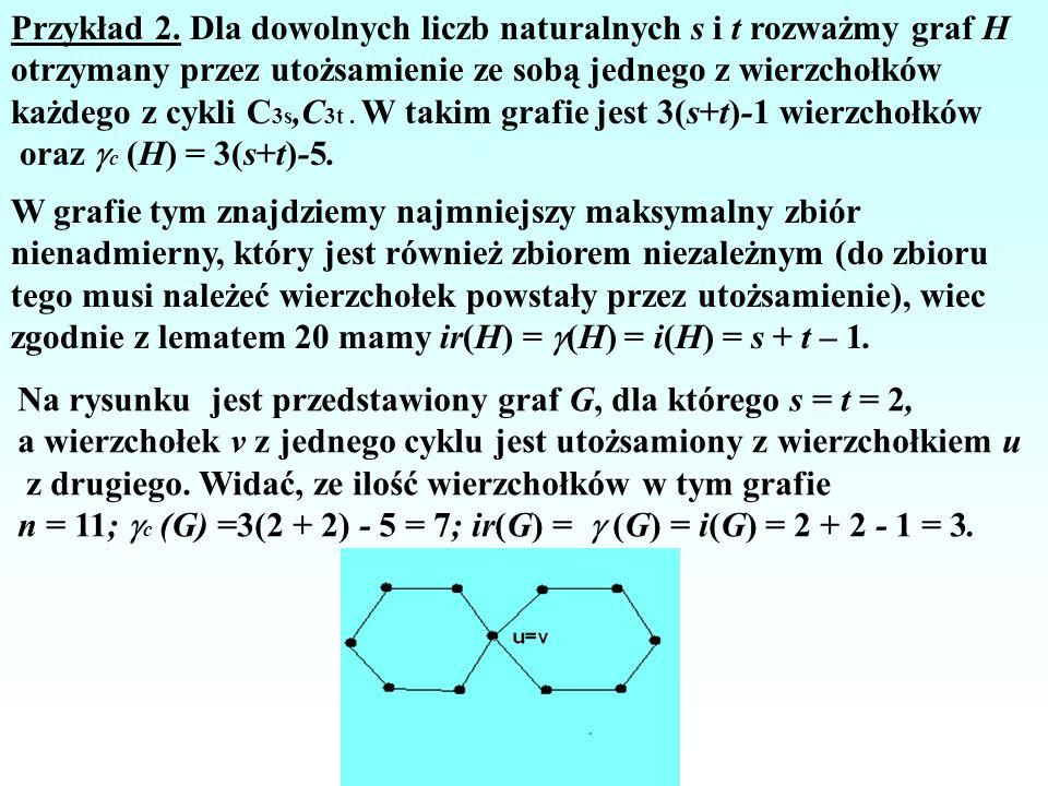Przykład 2. Dla dowolnych liczb naturalnych s i t rozważmy graf H