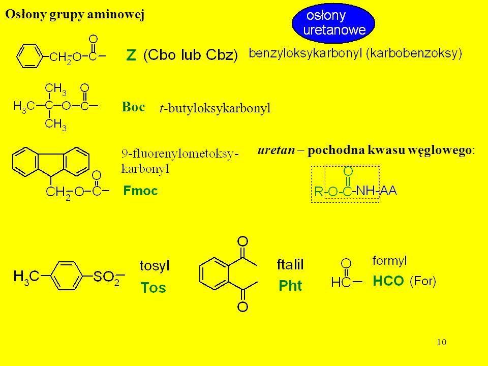 Boc Osłony grupy aminowej t-butyloksykarbonyl