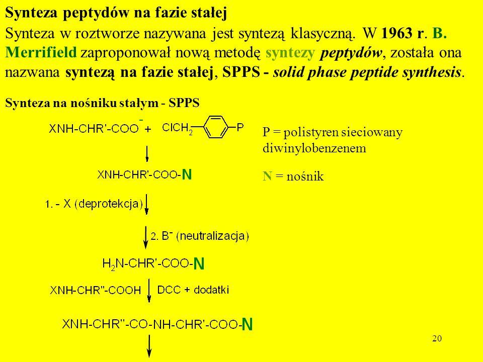 Synteza peptydów na fazie stałej