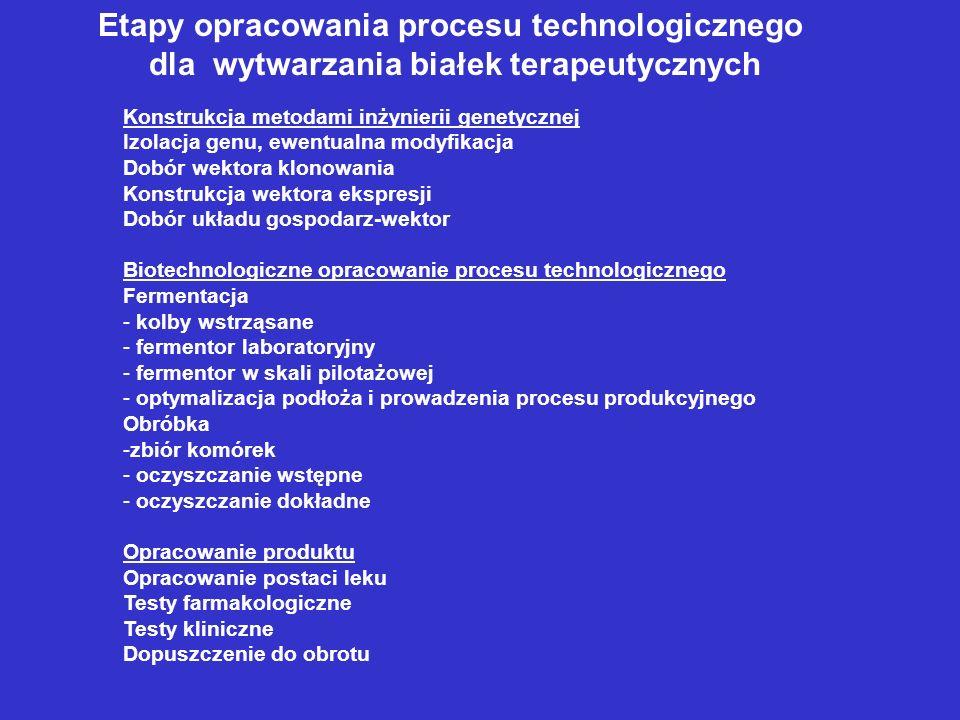 Etapy opracowania procesu technologicznego