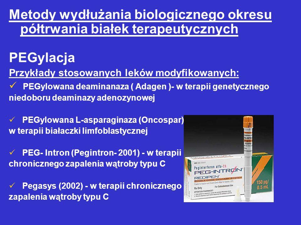 Metody wydłużania biologicznego okresu półtrwania białek terapeutycznych