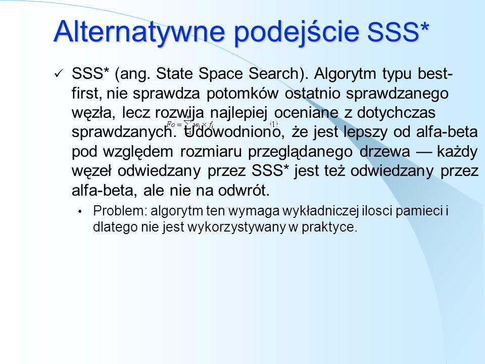Alternatywne podejście SSS*