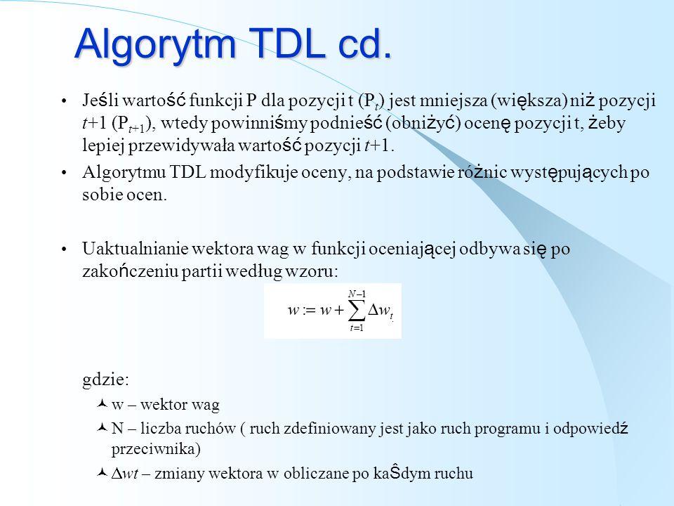 Algorytm TDL cd.