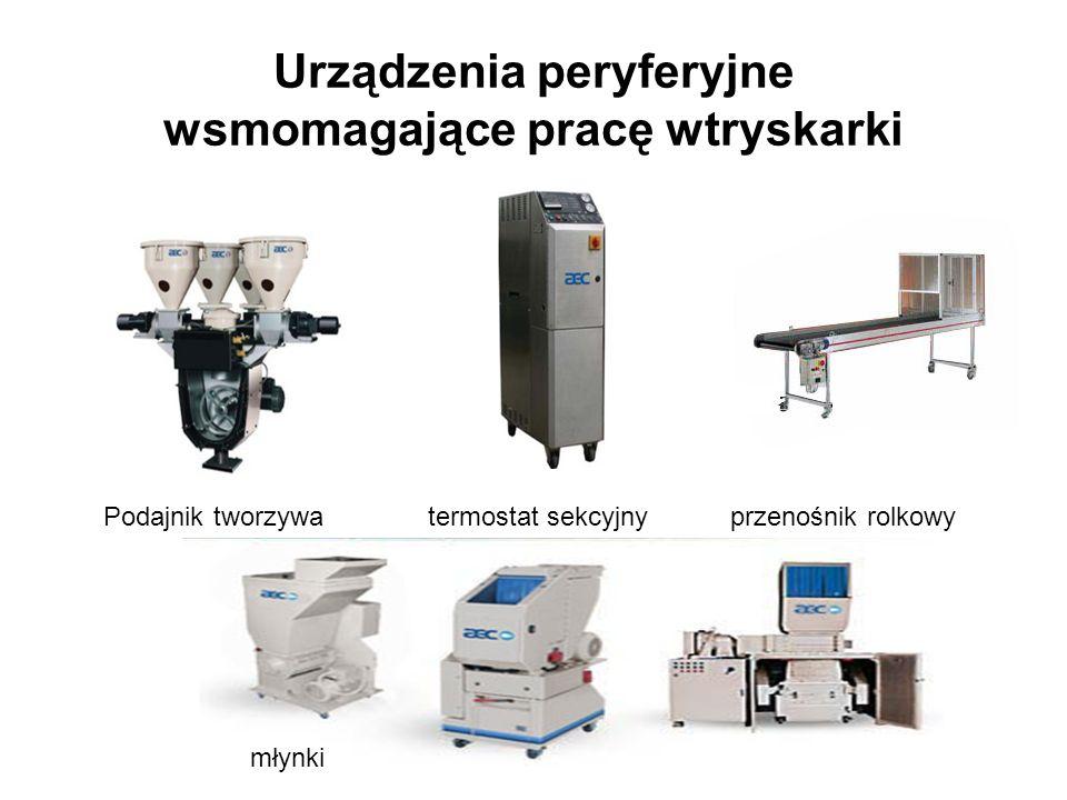 Urządzenia peryferyjne wsmomagające pracę wtryskarki