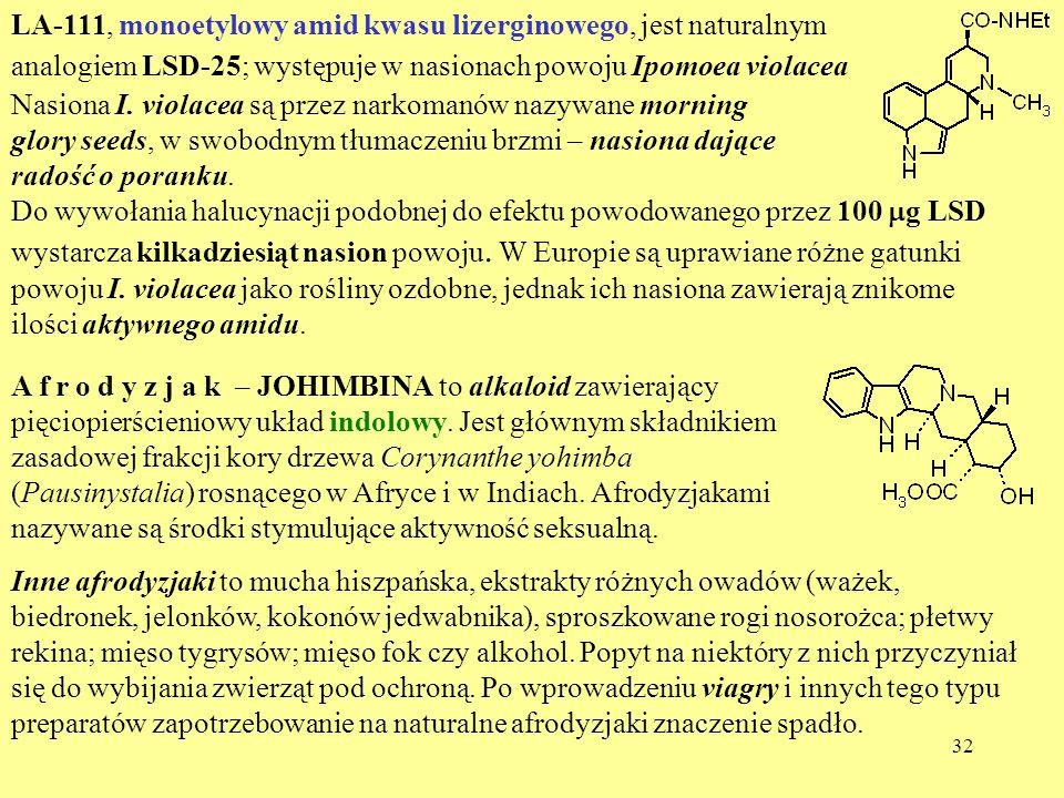 LA-111, monoetylowy amid kwasu lizerginowego, jest naturalnym