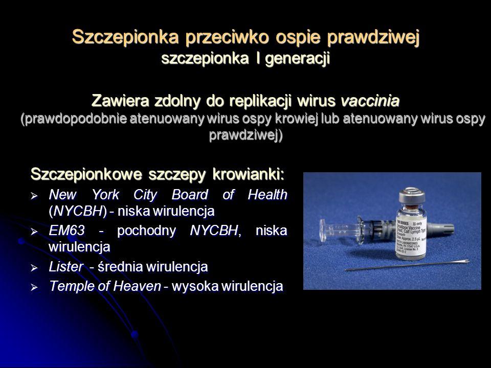 Szczepionka przeciwko ospie prawdziwej szczepionka I generacji