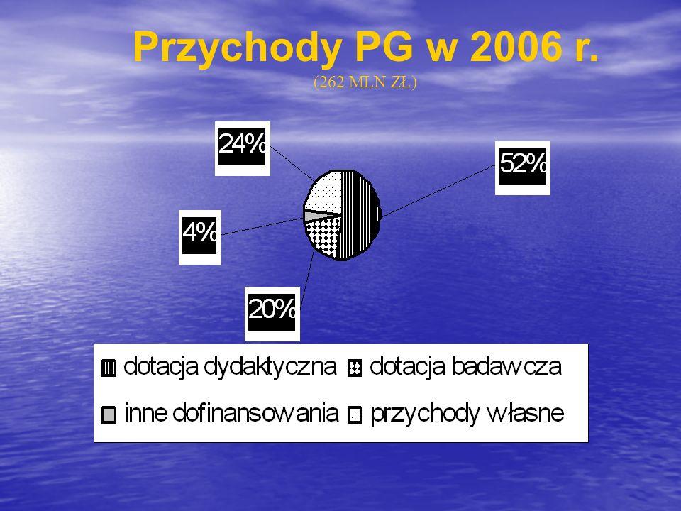 Przychody PG w 2006 r. (262 MLN ZŁ)