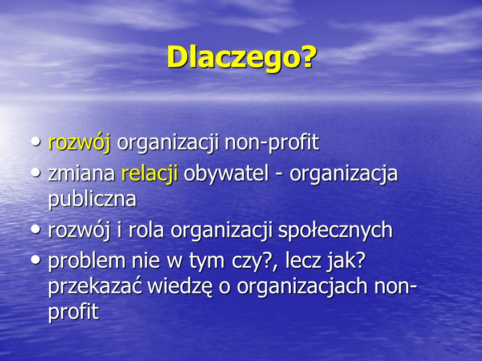 Dlaczego rozwój organizacji non-profit