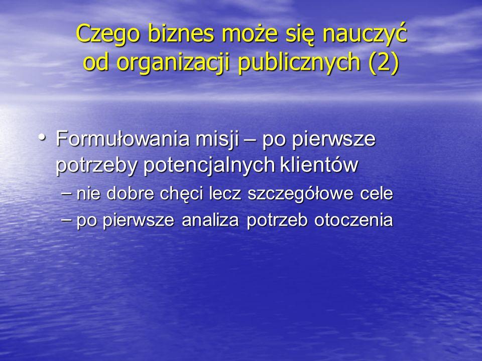 Czego biznes może się nauczyć od organizacji publicznych (2)