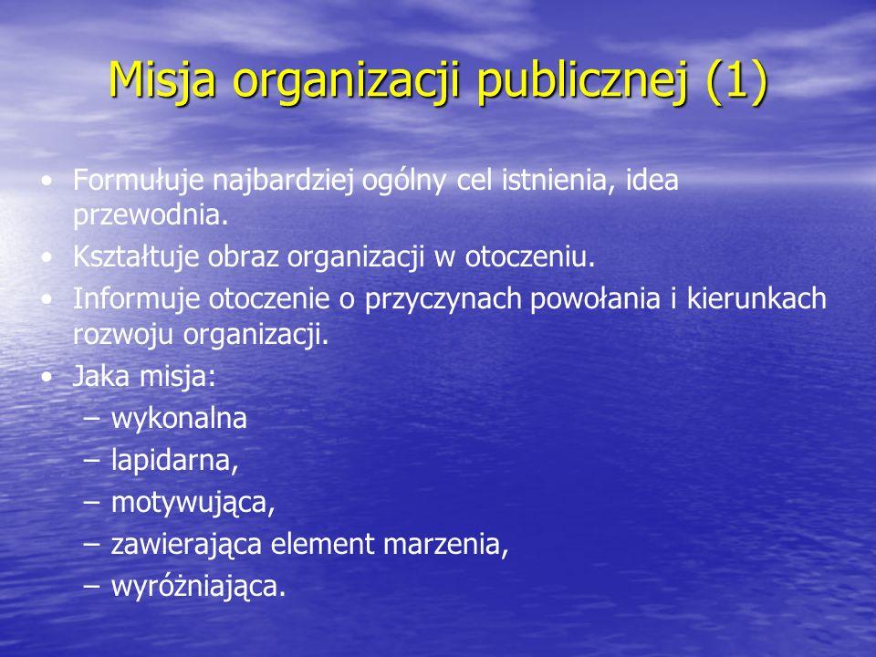 Misja organizacji publicznej (1)