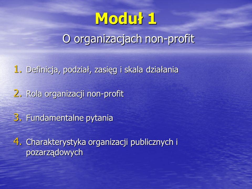 Moduł 1 O organizacjach non-profit