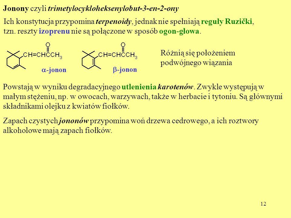 Jonony czyli trimetylocykloheksenylobut-3-en-2-ony