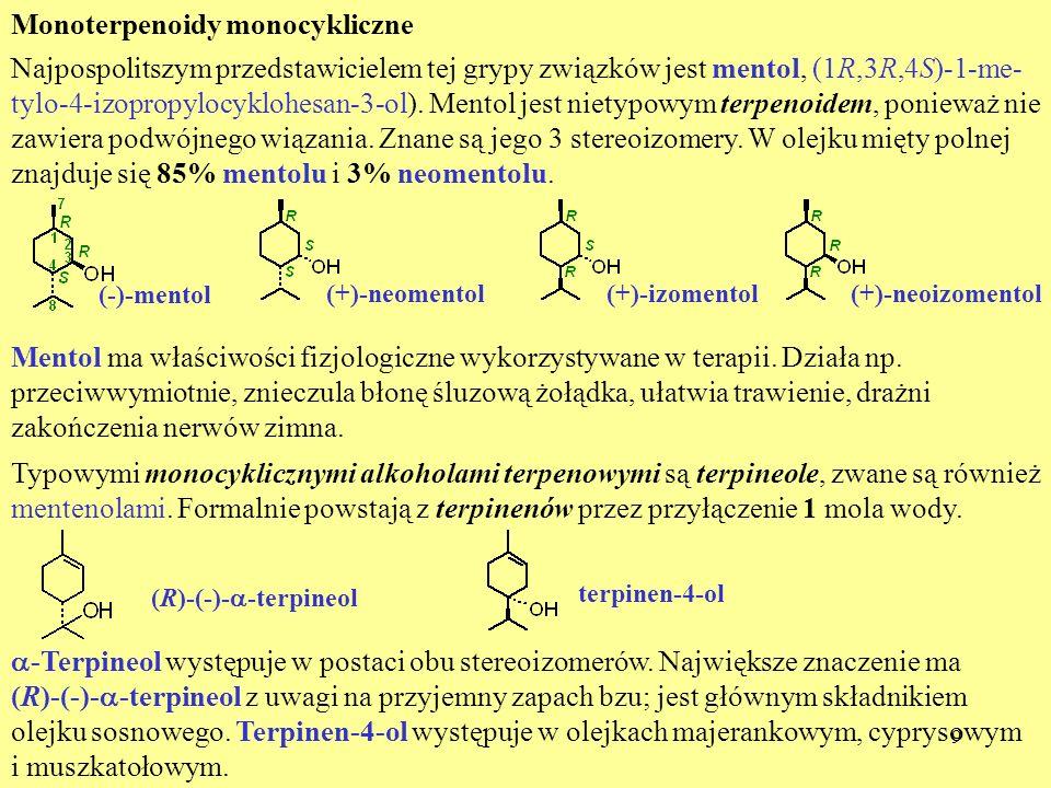Monoterpenoidy monocykliczne