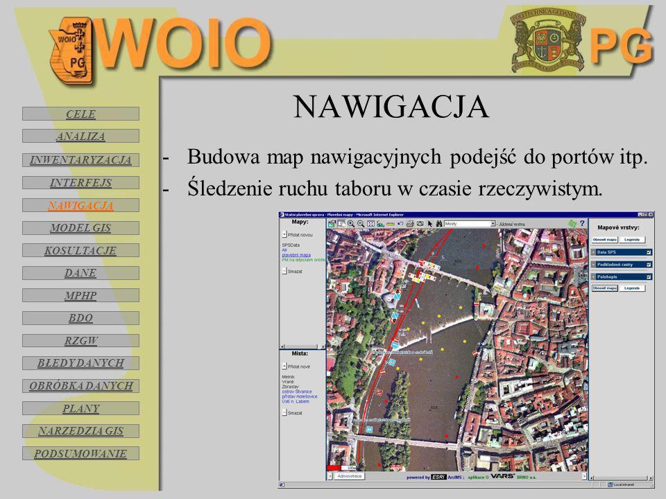 NAWIGACJA Budowa map nawigacyjnych podejść do portów itp.