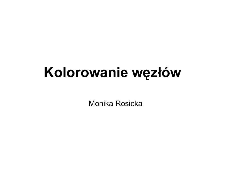 Kolorowanie węzłów Monika Rosicka