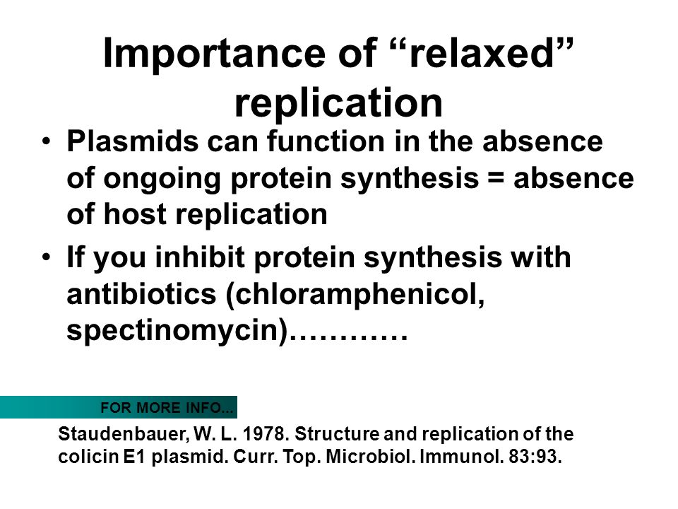 Importance of relaxed replication