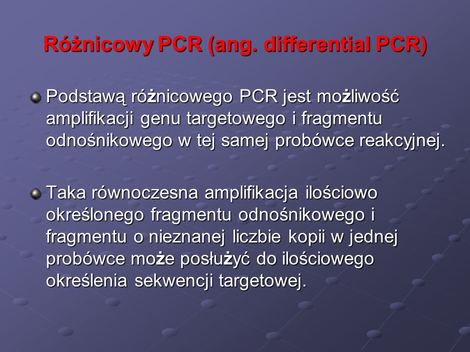 Różnicowy PCR (ang. differential PCR)