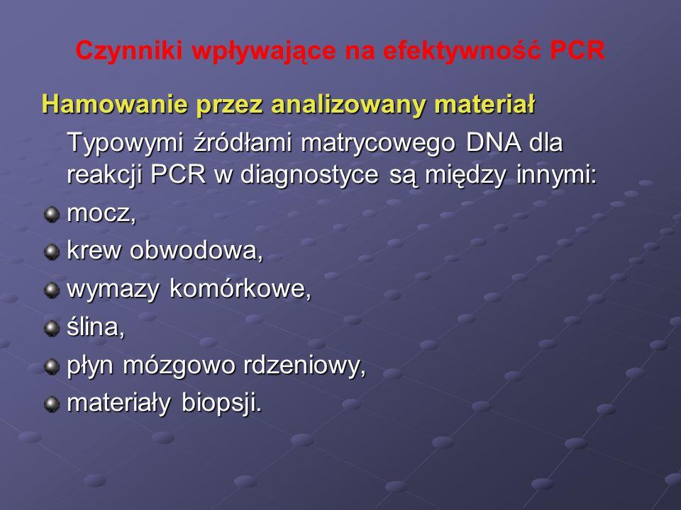 Czynniki wpływające na efektywność PCR