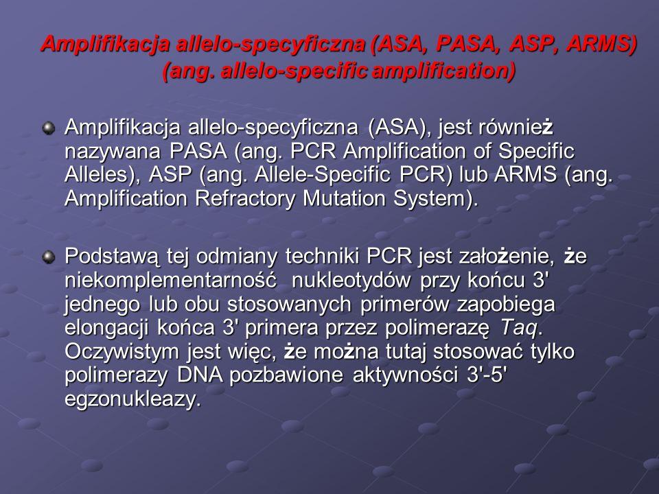 Amplifikacja allelo-specyficzna (ASA, PASA, ASP, ARMS) (ang