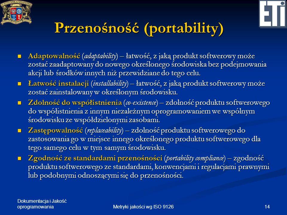Przenośność (portability)