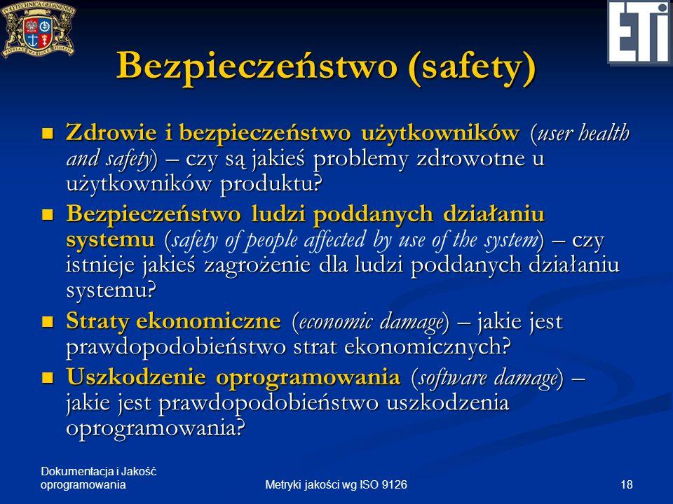 Bezpieczeństwo (safety)