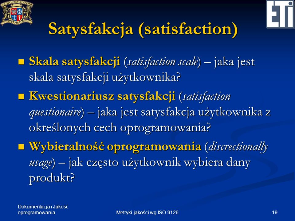 Satysfakcja (satisfaction)