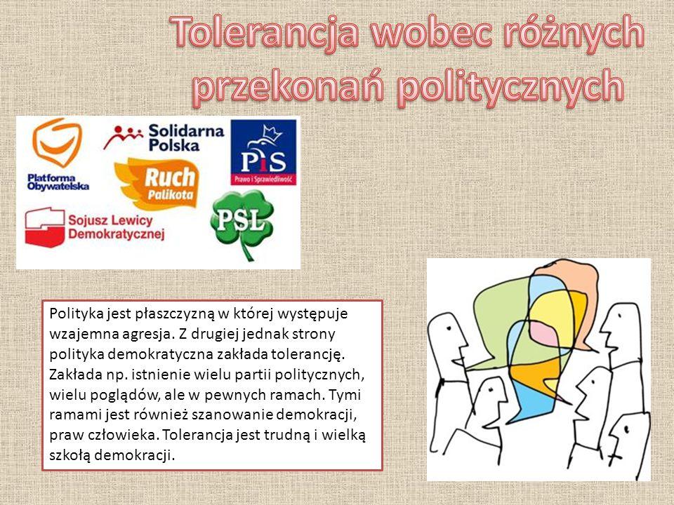 Tolerancja wobec różnych przekonań politycznych