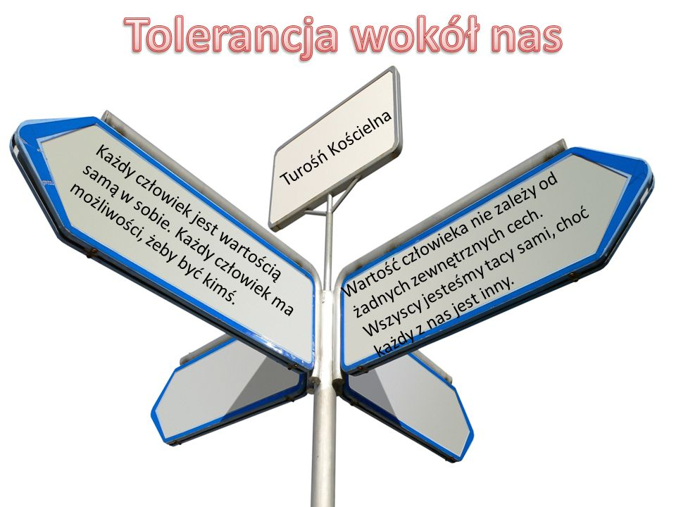 Tolerancja wokół nas Turośń Kościelna