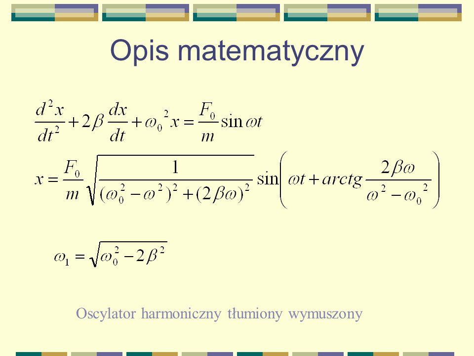 Opis matematyczny Oscylator harmoniczny tłumiony wymuszony
