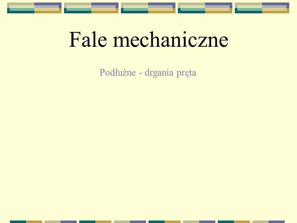 Fale mechaniczne Podłużne - drgania pręta