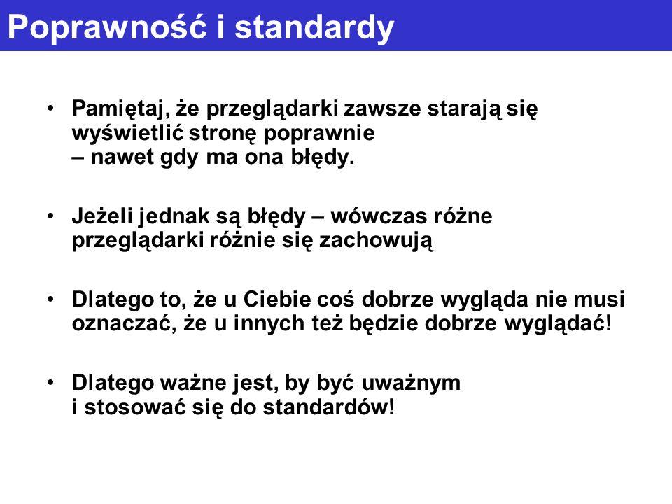 Poprawność i standardy