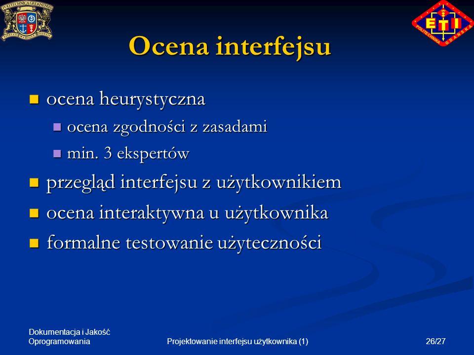 Projektowanie interfejsu użytkownika (1)