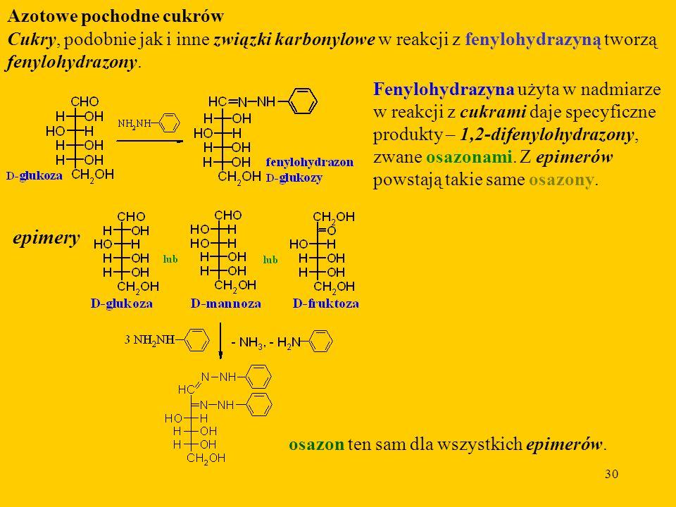 epimery Azotowe pochodne cukrów