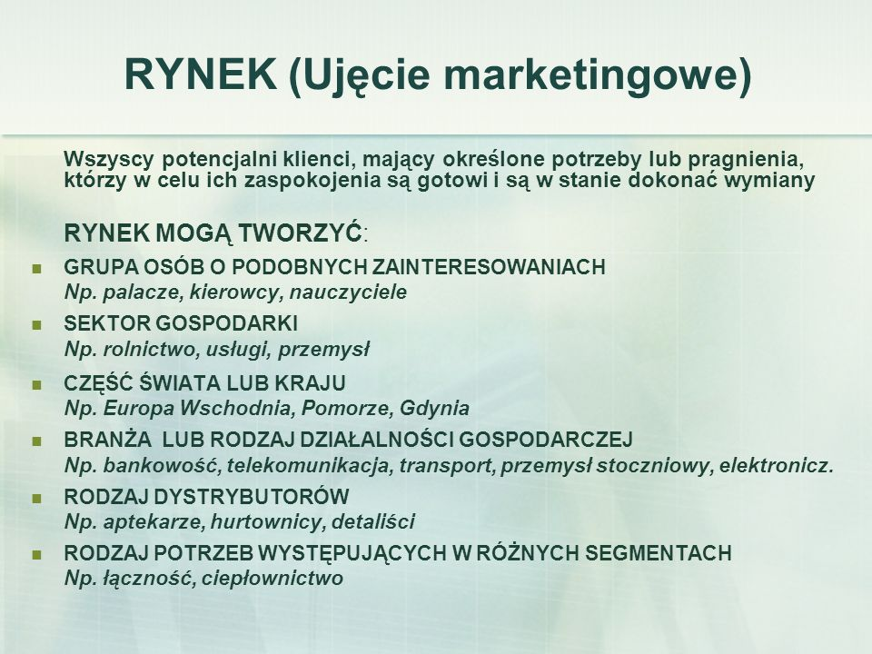 RYNEK (Ujęcie marketingowe)