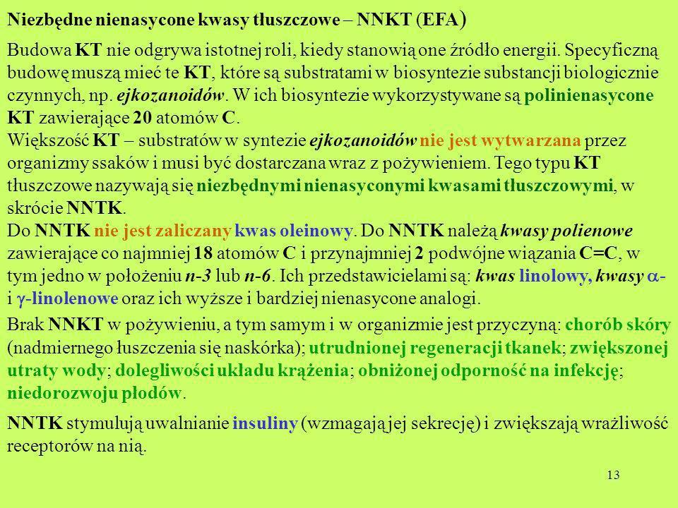 Niezbędne nienasycone kwasy tłuszczowe – NNKT (EFA)