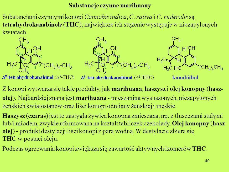 Substancje czynne marihuany