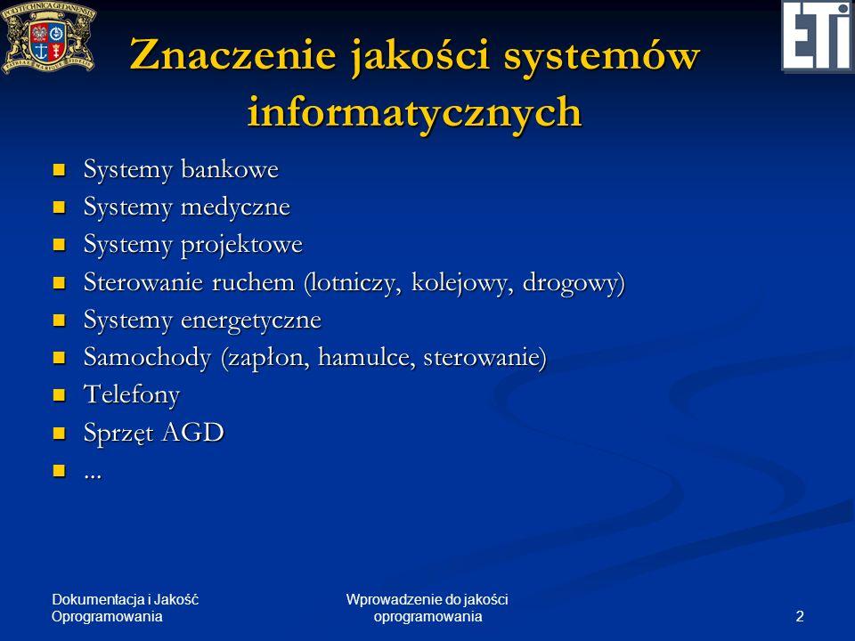 Znaczenie jakości systemów informatycznych