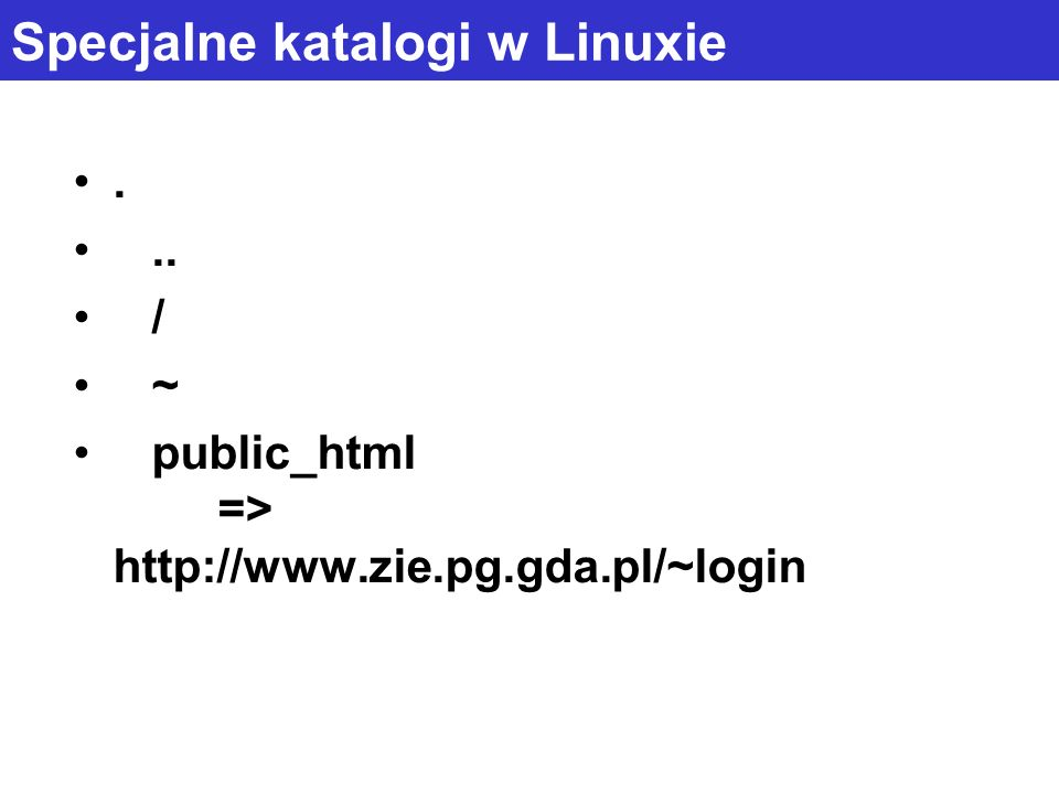 Specjalne katalogi w Linuxie