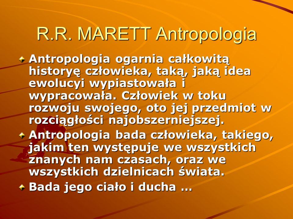 R.R. MARETT Antropologia