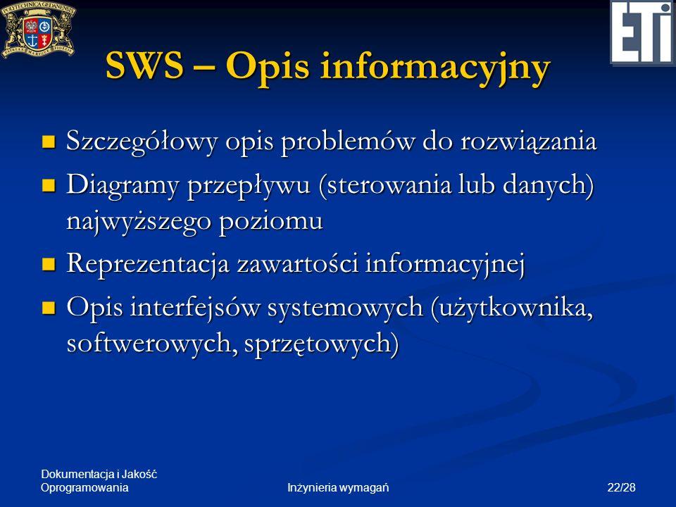 SWS – Opis informacyjny