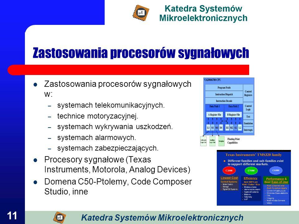 Zastosowania procesorów sygnałowych